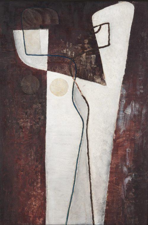 Alfred Ehrhardt, Ohne Titel (Figurenpaar), 1931, Tempera auf Holz (Masonit), 111,3 x 74,6 cm, © Alfred Ehrhardt Stiftung