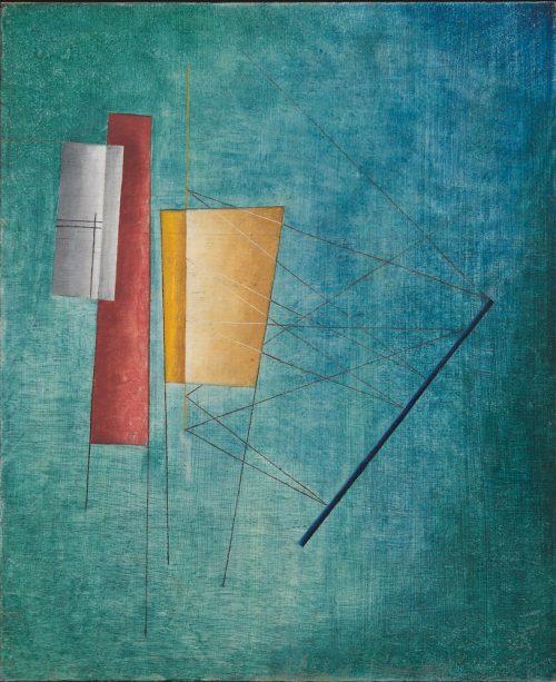 Alfred Ehrhardt, Ohne Titel (Abstrakte Komposition), 1930, Tempera auf Holz (Masonit), 44,0 x 36,0 cm, © Alfred Ehrhardt Stiftung