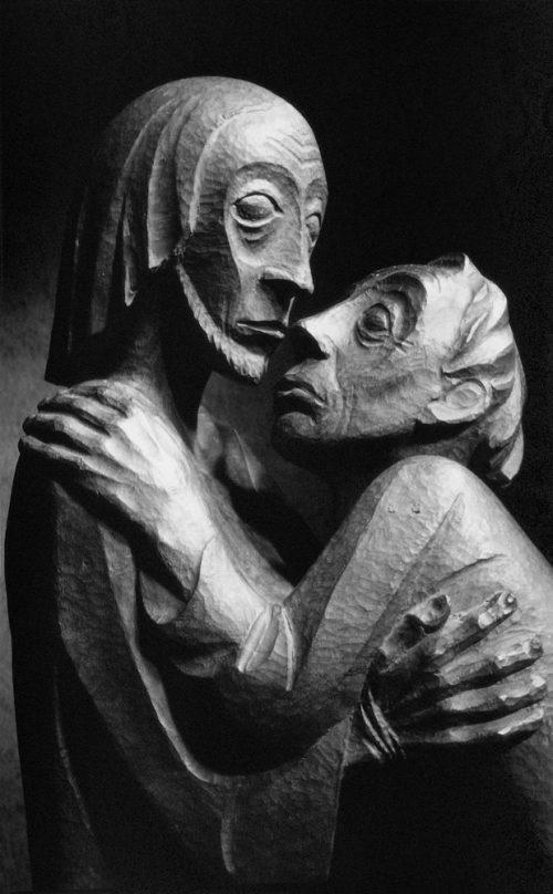 Alfred Ehrhardt, Ernst Barlach, Das Wiedersehen, Christus und Thomas, 1926, 1948, © Alfred Ehrhardt Stiftung