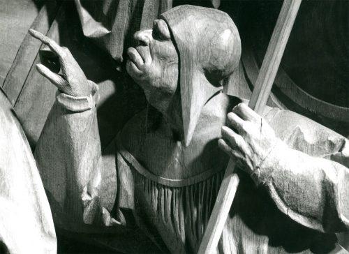 Alfred Ehrhardt, Hans Brüggemann, Kreuztragung (Detail), Bordesholmer Altar, Dom, Schleswig, 1948, © Alfred Ehrhardt Stiftung