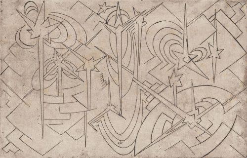 Alfred Ehrhardt, Sterne, undatiert, Radierung auf Papier, 37,5 x 53,0 cm / 22,6 x 35,3 cm, © Alfred Ehrhardt Stiftung
