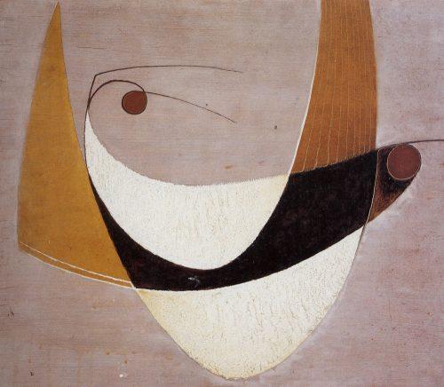 Alfred Ehrhardt, Ohne Titel (Vogelpaar), 1931, Tempera auf Holz (Masonit), 60,0 x 69,7 cm, © Alfred Ehrhardt Stiftung