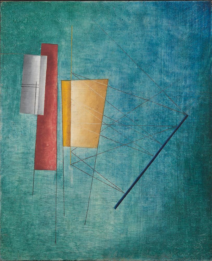Alfred Ehrhardt Ohne Titel (Abstrakte Komposition), 1930 Tempera auf Holz (Masonit) 67,0 x 57,0 cm © Alfred Ehrhardt Stiftung