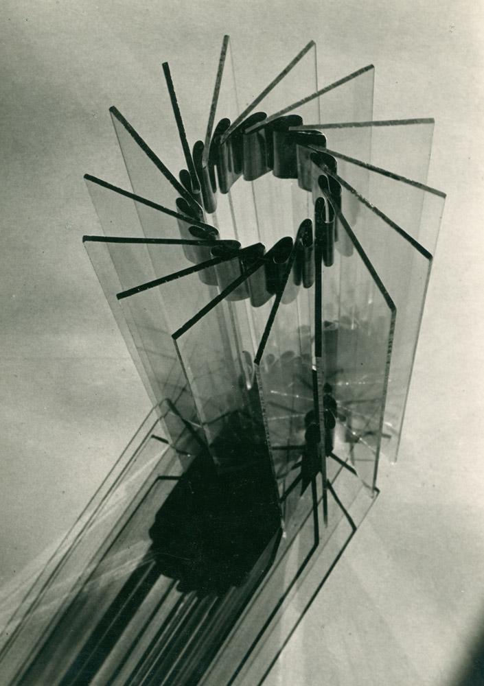 Fotografie einer originalen Schülerarbeit aus dem Vorkurs Fritz Schleifer, Landeskunstschule Hamburg 1930-33, Hamburgisches Architekturarchiv - Bestand Fritz Schleifer,  © Jan Schleifer