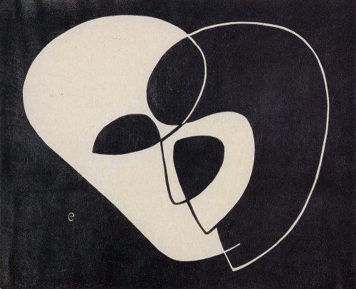 Alfred Ehrhardt, Ohne Titel (Kopf), 1931, Linolschnitt auf Japanpapier, 26,0 x 35,0 / 19,9 x 24,6 cm, © Alfred Ehrhardt Stiftung