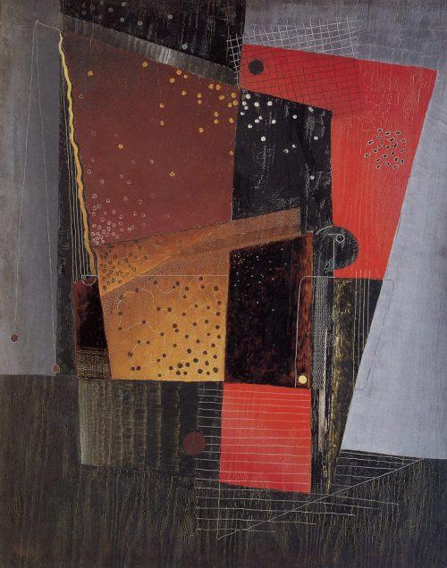 Alfred Ehrhardt, Ohne Titel (Abstrakte Komposition), 1930, Tempera auf Holz (Masonit), 100,0 x 80,0 cm, © Alfred Ehrhardt Stiftung