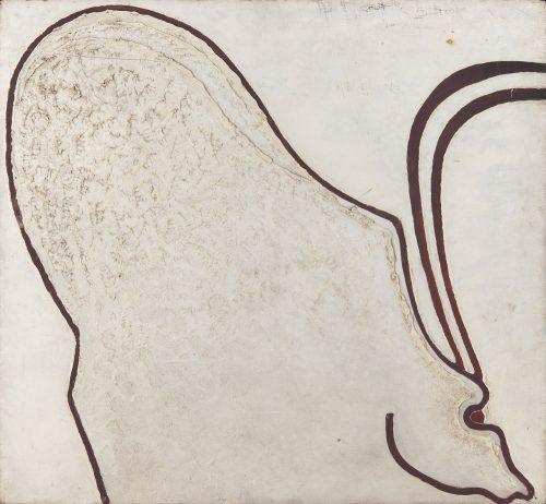 Alfred Ehrhardt, Ohne Titel (Urtier), 1931, Tempera auf Holz (Masonit), 55,0 x 59,4 cm, © Alfred Ehrhardt Stiftung