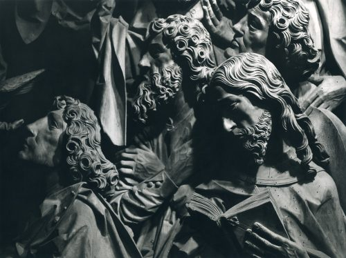 Alfred Ehrhardt, Tilman Riemenschneider, Apostelgruppe, Altar der Hergottskirche, Creglingen, 1954/55, © Alfred Ehrhardt Stiftung