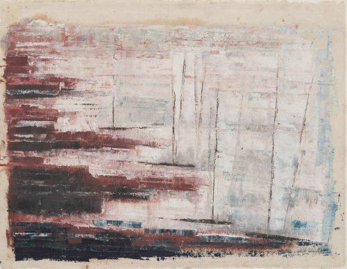 Alfred Ehrhardt, Ohne Titel (Segelschiffe), undatiert, Tempera auf Japanpapier, 31,5 x 41,2 cm / 27,5 x 40,0 cm, © Alfred Ehrhardt Stiftung