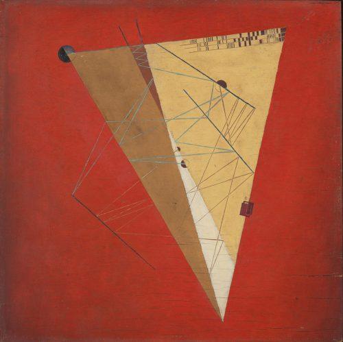 Alfred Ehrhardt, Ohne Titel (Abstrakte Komposition), 1930, Tempera auf Holz (Masonit), 41,4 x 41,4 cm, © Alfred Ehrhardt Stiftung
