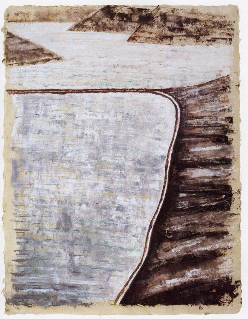 Alfred Ehrhardt, Ohne Titel (Landschaft), 1929, Gouache auf Japanpapier, 40,9 x 32,0 cm, © Alfred Ehrhardt Stiftung